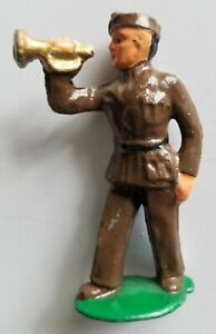 METAL CAST CO. #33A RARE SCARCE Toy Lead Soldier TRUMPETER Barclay Manoil