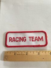 Racing Team Patch Embroidered , Vintage Rare Beautiful Automobilia