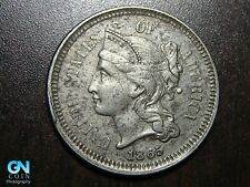 1865 3 Cent Nickel Piece    BETTER GRADE!  NICE TYPE COIN!  #B6608