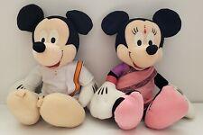 DISNEY Parks Sega Prize AROUND THE WORLD Mickey & Minnie Mouse INDIA plush SET