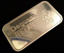 20 g Silberbarren von Degussa 999,9/1000 Feinsilber