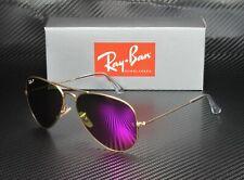 RAY BAN RB3025 112 1Q Aviator Gold Brown Fucsia Polarized 58 mm Men's Sunglasses
