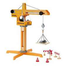 Hape Playscapes Toddler Kids Wooden Toy Crane Lift Play Set (Open Box)