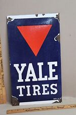 YALE TIRES PORCELAIN SIGN CARS TRUCKS DEALER FARM TRACTOR DEERE IH MOBIL