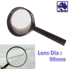 90mm Hand Held Magnifying Glass Lens Magnifier Loupe Magnification EMAG54890