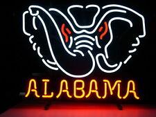 NEW ALABAMA CRIMSON TIDE REAL GLASS NEON LIGHT BEER BAR PUB SIGN