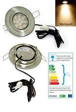 Flache LED Deckenstrahler 12V Eli 3W =25W Warmweiss geringe ET 1,5m Kabel