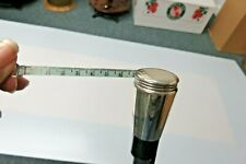 New listing Antique Sterling Tape Measure Cane c1890's