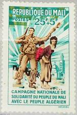 MALI 1962 57 B2 Algerian Refugees Solidarity Campaign Soldat Mutter Kind MNH