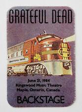 Grateful Dead Backstage Pass Train Locomotive Engine Canada Ontario 6/21/1984