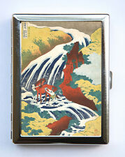Waterfall Horse Cigarette Case Business Card Holder japanese tattoo woodblock
