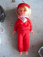"""Vintage Plastic Italy Made Blonde Hair Character Girl Doll 6 1/2"""" Tall"""