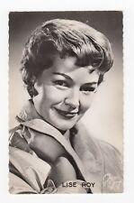 LISE ROY Chanteuse Comédienne Radio Television Théâtre 1950s Editions P.I. RPPC