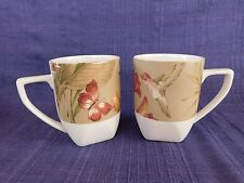 222 Fifth Antiqua MUG LOT of TWO 2 have more items Butterfly