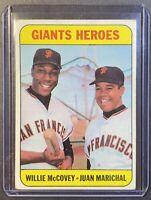 1969 Topps #572 Willie McCovey/Juan Marichal Giants Heroes