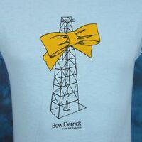 NOS vintage 80s BOW DERRICK CARTOON BO DEREK T-Shirt XS/SMALL tv movie joke thin