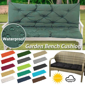 2-3 SEAT THICK OUTDOOR GARDEN PATIO BENCH SEAT CUSHION BACKREST WATERPROOF PAD
