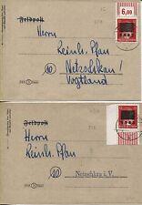 Lokal Netzschkau-Reichenbach 8 I + 8 II b je EF auf Orts-Sammler-Brief (B07022)