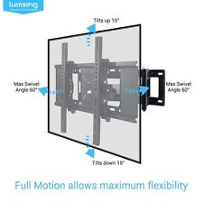 "Brazo de doble articulación TV Wall Mount Bracket para 22-70"" LCD LED TV-SBL0017"