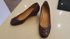 Jones Boot maker Ladies shoes - Size uk 6 (39) - Burgundy wedge heel leather