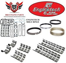 ENGINETECH CHEVY SBC 305 5.0 RE RING REBUILD KIT WITH MAIN BEARINGS 1996-2002