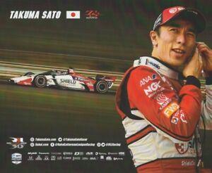 2021 Takuma Sato Panasonic Shield Cleansers Honda Dallara Indy Car Hero Card