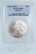 1994-W PCGS MS69 Women in Military Silver Dollar Business Strike $1