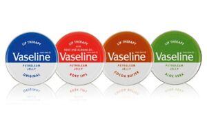 3x Vaseline 20g tins of Lip Balm. Pocket Size Petroleum Jelly. Mini Pots