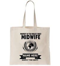 Midwife Personalised Tote Bag Shopper Thanks Amend Birthday Gift Nurse Pregnancy