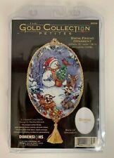 Dimensions Gold Collection Petites 8656 Snow Friends Ornament Cross Stitch Kit