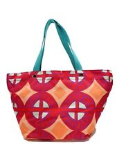 Fossil Key Per Raspberry Shopper Tote Multicolor Top Zip Shoulder Handbag New!