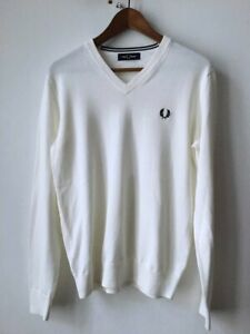 Fred Perry v neck SKA MOD. sweater K5522 men's size S / Small