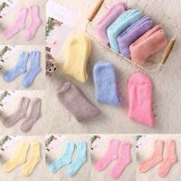 3/6 Pairs Ladies Women Winter Warm Soft Fluffy Bed Socks Lounge Slipper Sock