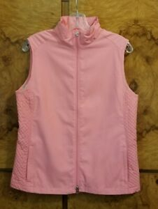 WOMEN'S LADY HAGEN PEACH APRICOT GOLF VEST ~ MEDIUM