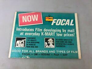 FILM - PHOTOGRAPHY - K MART FOCAL FILM FOLDER - EMPTY - KODAK - 3M - FUJI