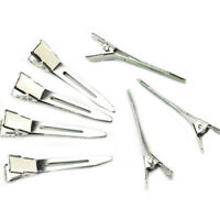 FT- 50pcs Modish Flat Metal Single Prong Alligator Hair Clips Barrette for Bows