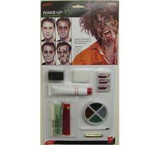 Halloween costume zombie makeup face paint set blood & sponge