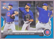 Chicago Cubs Davies Tepera Chafin Kimbrel No-Hitter 2020 Topps Now 409 Blue 2/49