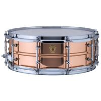 Ludwig USA LC660T Copper Phonic 5x14 Smooth Snare Drum with Tube Lugs
