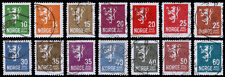 Norway Scott 115-128 (1926-34) Used H F-VF Complete Set, CV $10.40