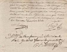 1797 manuscript document freemason signature official french revolution notary