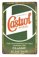 New Castrol Motor Oil Tin Sign Art Vintage Style Advertisement Man Cave Garage