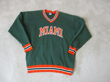 VINTAGE Russell Athletic Miami Hurricanes Sweater Adult 2XL XXL Green Football
