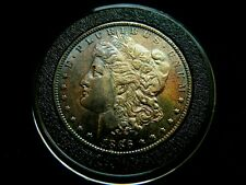 1886-o BU. KEY DATE. RARE $1 Morgan Silver Dollar naturally toned