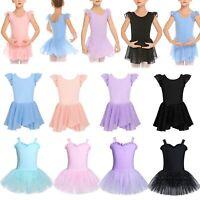Kids Girls Ballet Dancing Skirt Tutu Dress Dance Shows Ballerina Yoga Costume