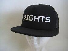 DEPACTUS Where Land Meets Sea RIGHTS Snapback Trucker Mesh Hat Adjustable NWT