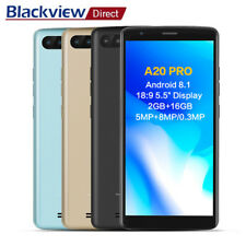 Lte 4G Android 8.1 2Go+16Go 5.5''Blackview A20 Pro Téléphone Mobile TOUCH ID FR