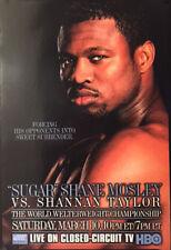 VINTAGE ORIGINAL SUGAR SHANE MOSLEY VS. SHANNAN TAYLOR BOXING FIGHT POSTER