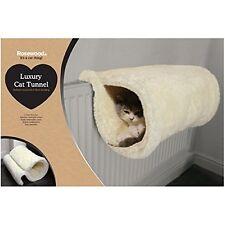 Cat Radiator Bed Luxury Soft Floor Standing Warm Fleece Kitten Tunnel Rosewood