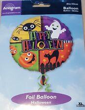 "1x Round ""Happy Halloween"" Foil Balloon."
